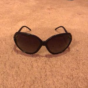 Vintage Nina Ricci oversized purple sunglasses